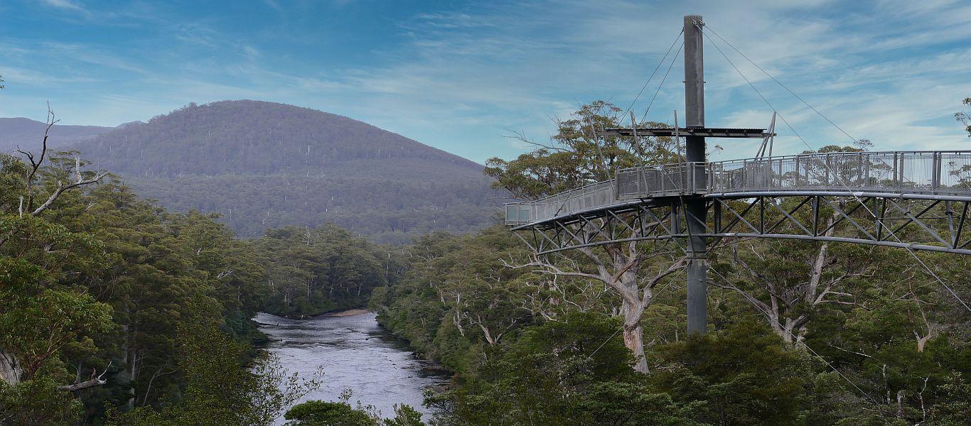 Wandern auf Tasmanien, Huon Tal, Tahune Airwalk